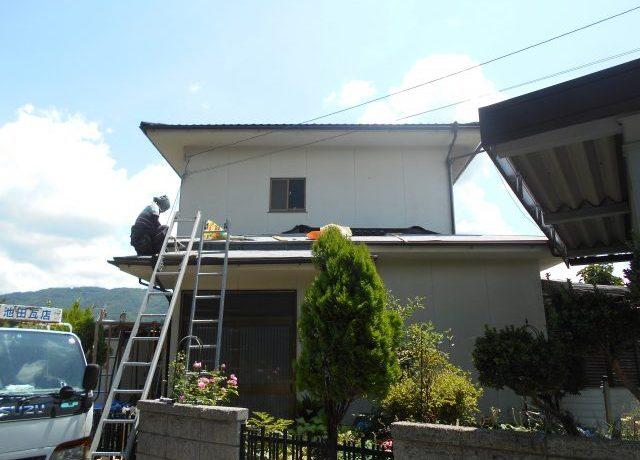 安曇野市豊科にて軽量屋根材T・ルーフ施工完了しました!