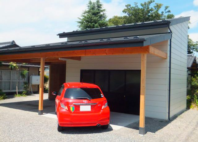安曇野市豊科にて「物置を解体して、物置兼ガレージを新築!」