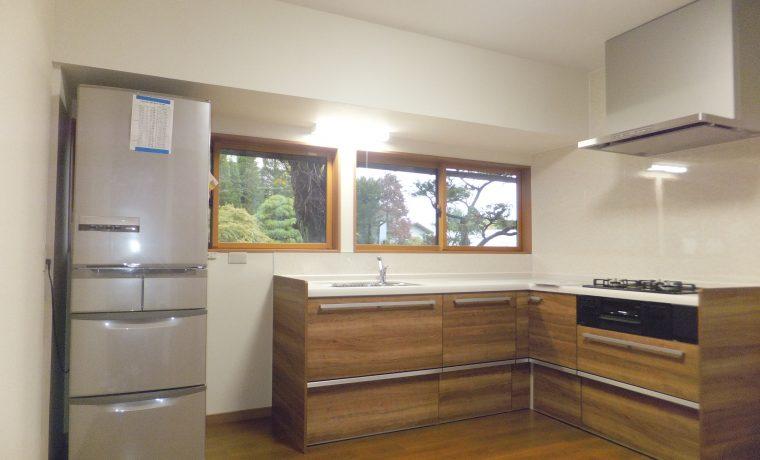 安曇野市豊科高家U邸にてキッチン改修工事が完了しました‼