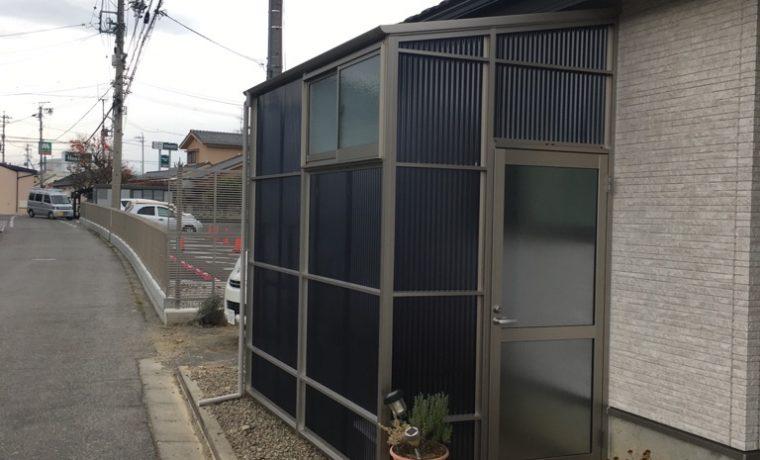 松本市Y邸にてストックヤードの工事完了しました‼