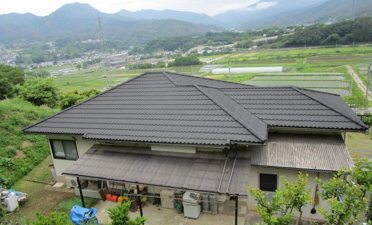 松本市M邸にて軽量屋根材T・ルーフ設置工事が完了しました‼