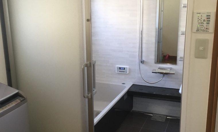 安曇野市穂高有明K邸にてユニットバス設置工事が完了しました‼