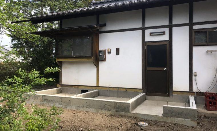 安曇野市豊科高家K邸にてお風呂増築工事が始まりました!