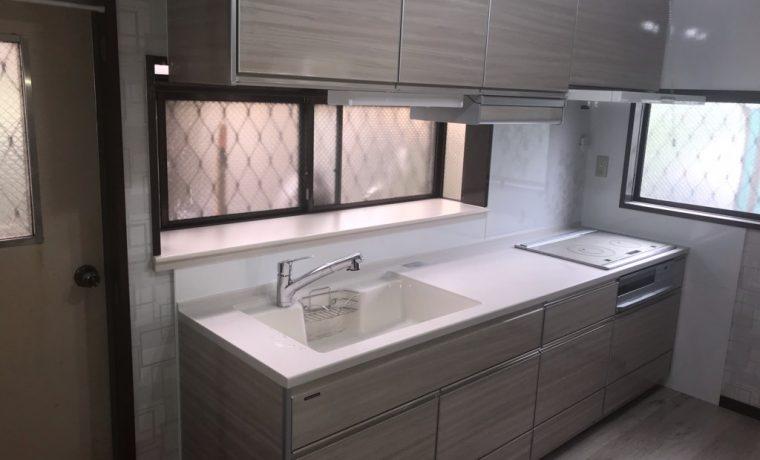 松本市波田N邸にてキッチン改修工事が完了しました‼